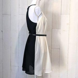 Forever 21 Chiffon Halter Yin Yang Dress